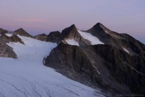 Lüsener Fernerkogel mit Lüsener Ferner und Rotgratferner gesehen von der Rinnenspitze