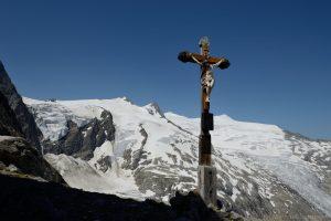 Löbbentörl mit Großvenediger und Schlatenkees, Aufstieg Kristallwand