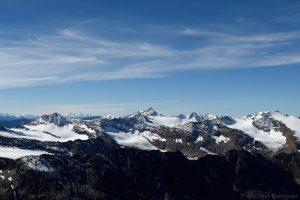 vergletscherte Ötztaler Alpen gesehen vom Hinteren Seelenkogel