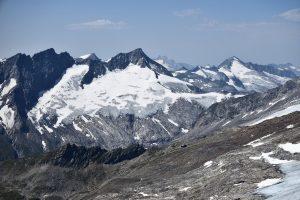 Großer Geiger mit Dorfer Kees gesehen von der Weißspitze