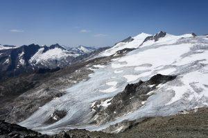 Großer Geiger, Großvenediger mit Inneren und Äußeren Mullwitzkees gesehen von der Weißspitze