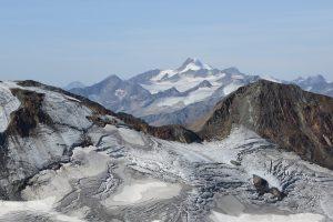 Wildspitze und Sulztalferner gesehen vom Hinteren Daunkopf