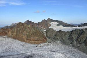 Ruderhofspitze mit Alpeiner Ferner und Schwarzenbergferner, Aufstieg Schrankogel