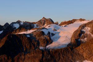 Schrandele und Vorderer Wilder Turm mit Berglasferner gesehen von der Rinnenspitze