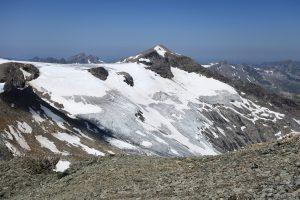 Kristallwand mit Frosnitzkees gesehen von der Weißspitze