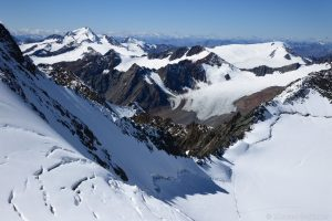 Blick zur Weißkugel und Weißseespitze