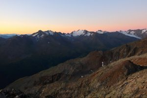 Ötztaler Alpen vor Sonnenaufgang
