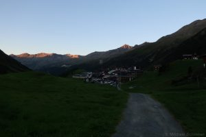 Sonnenuntergang in Obergurgl