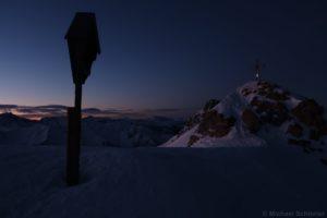 Pfoner Kreuzjöchl vor Sonnenaufgang