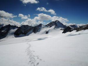 Aufstieg Hochvernagtspitze, Blick zum Fluchtkogel
