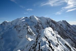 Gipfelgrat Hochsteller, Blick Richtung Hochferner