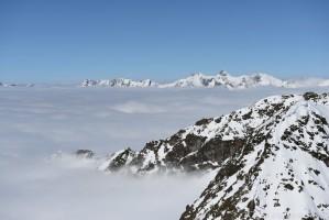 Parseierspitze bei Hochnebel