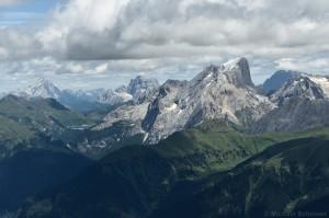 Antelao, Monte Pelmo und Marmolata