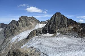 Schwarzenbergspitzen und Mutterberger Seespitze mit Bockkogelferner