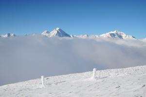 Habicht und Kirchdachspitze bei Hochnebel