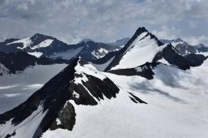 Schalfkogel, Westliche Marzellspitze und Hintere Schwärze