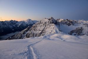 Nockspitze bei Sonnenaufgang