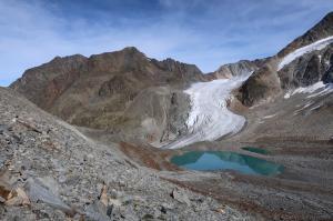 Bergsee mit Taschachferner