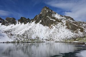 gefrorener Rinnensee