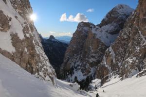 Skitour in den Dolomiten