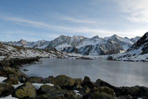 Rinnensee, Blick Richtung Kräulspitze und Sommerwandferner