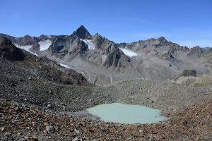 Gletschersee und Wilde Leck, Aufstieg Hinterer Daunkopf