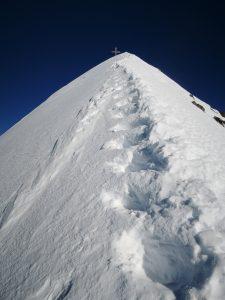 Stufen schlagen am Hochfeiler
