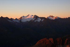 Hinterer Seelenkogel und Hochwilde bei Sonnenaufgang