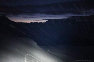 Föhnsturm bei Nacht