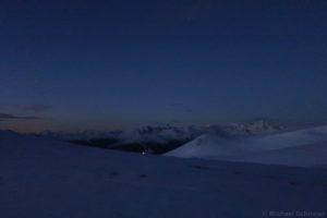 Stubaier Alpen bei Nacht