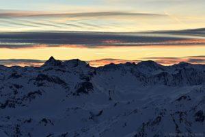 Lizumer Reckner und Geier bei Sonnenaufgang
