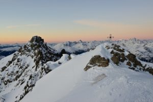 Pfoner Kreuzjöchl bei Sonnenaufgang