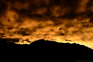 Sonnenuntergang in Tirol