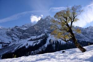 Großer Ahornboden bei Schnee