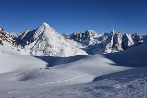 Skitour, Blick Richtung Schrankogel