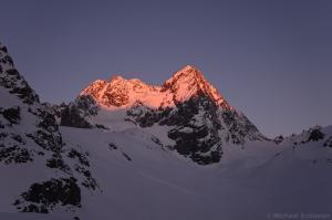 Watzespitze bei Sonnenaufgang