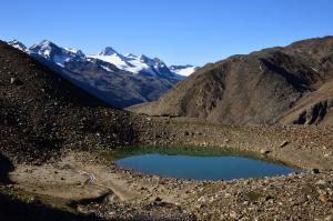 Bergsee mit Fineilspitze