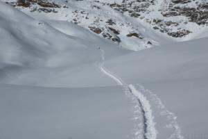 Spurarbeit bei der Skitour