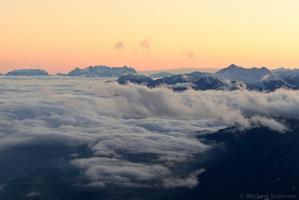 Wilder Kaiser bei Sonnenaufgang