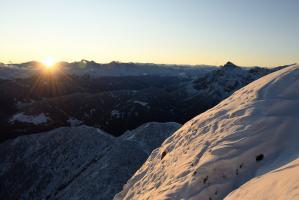 Sonnenaufgang Nockspitze