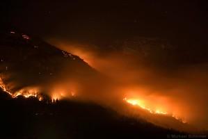 Waldbrand am Hochmahdkopf